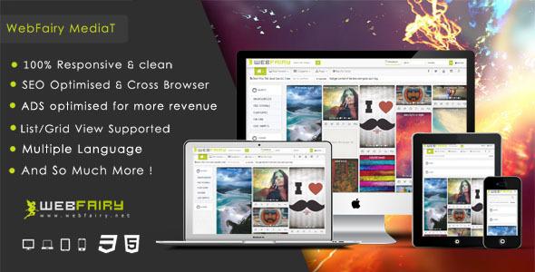 اسکریپت اشتراک گذاری چند رسانه WebFairy Mediat v1.4.1